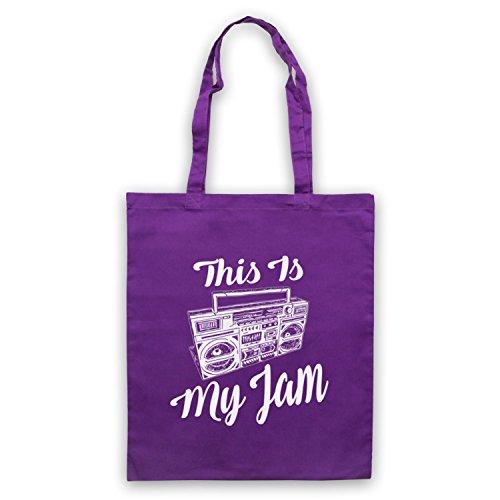 This Is My Jam Music Slogan Umhangetaschen Violett