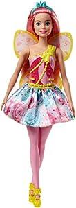 Barbie Dreamtopia, muñeca hada con falda azul y rosa, juguete +3 años (Mattel FJC88)