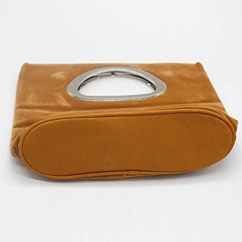 Damen-Veloursleder-Beutel-Abend-Veloursleder-Beutel-Beutel-beiläufige Handtasche Gold