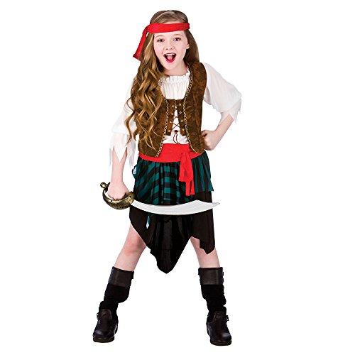 Karibik-Piraten-Mädchen Kostüm - Klein 3/4 Jahre 110-122cm