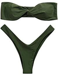 0f5bdf0c3da1 OHQ Costumi da Bagno di Moda Donne Costumi da Bagno Costumi da Bagno A Vita  Bassa Costumi da Bagno Sexy Costume da Bagno Senza…
