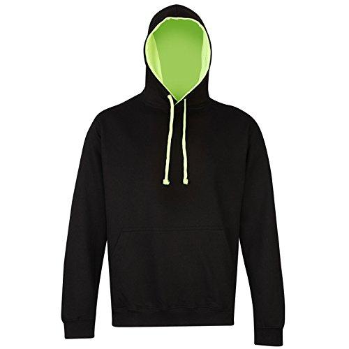 AWDis - Sweat à capuche - Moderne - Femme Jet Black/ Electric Green