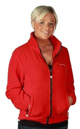 Outdoor Scene Ladies Outdoor Scene Polar Fleece Jacket 18 Red