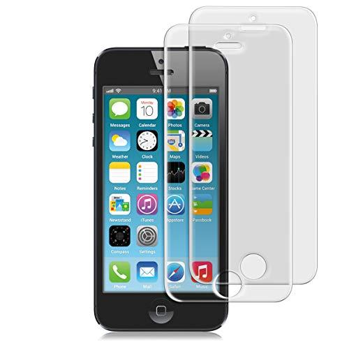 kwmobile 2X Glas Folie matt für Apple iPhone SE / 5 / 5S / 5C Bildschirmschutzfolie - Schutzglas Schutzfolie Bildschirmschutz Glasfolie in matt