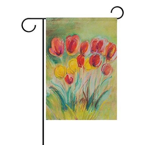 Naanle Ölgemälde Floral Poppy Lange Polyester Garten Flagge 30,5x 45,7cm, Poppy Art Deko Yard Flagge für Hochzeit Party Home Garten Decor 12 x 18 inches Multi 1 -