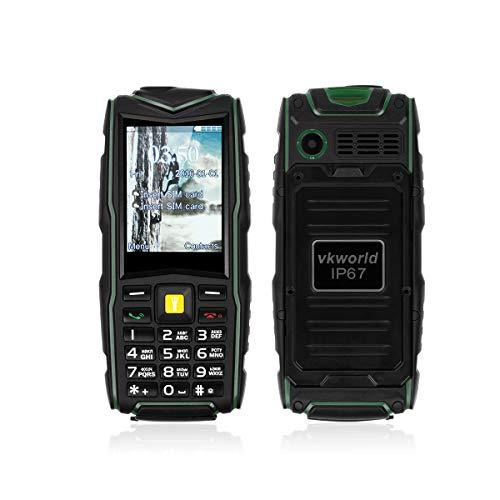 VKworld V3 IP67 stoßfestes staubdichtes Handy-Energien-Bank-langes Wasserdicht Outdoor für Senioren Große Tasten Simlockfrei Smartphone mit Kamera Taschenlampe