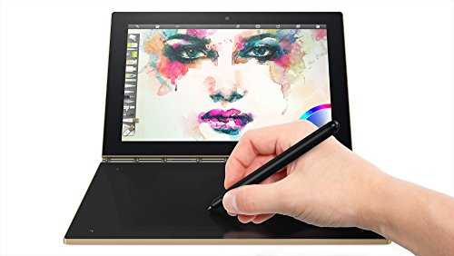"Foto Lenovo YB1-X90F Yoga Book Convertibile con Display da 10.1"", Processore Intel Atom da 1.44 GHz, 4 GB LPDDR3-SDRAM, 64 GB Flash, Scheda Grafica Intel HD Graphics 400, Android 6.0.1, Nero/Oro"