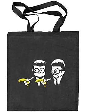 Shirtstreet24, Banana Shoot, Natur Stoffbeutel Jute Tasche (ONE SIZE)