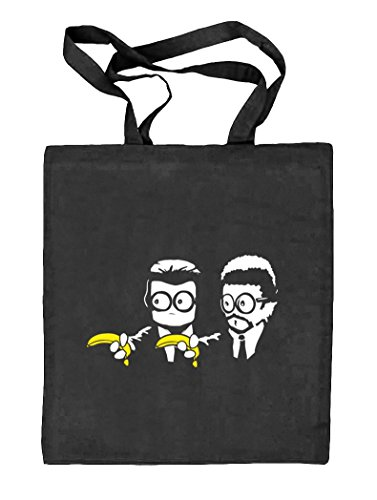 Shirtstreet24, Banana Shoot, Natur Stoffbeutel Jute Tasche (ONE SIZE) schwarz natur