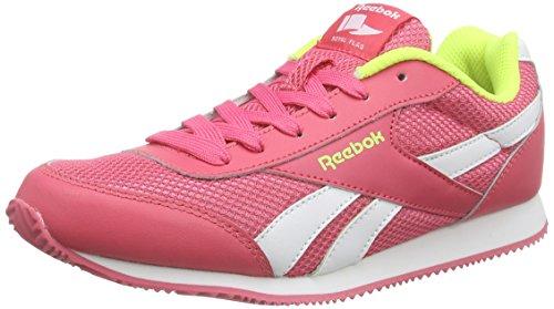 Reebok Royal Classic Jogger 2.0, Chaussures de Course Fille Rose/ jaune / blanc (rose audacieux / jaune solaire / blanc)