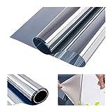 RH Art Sonnenschutzfolie Fenster UV-Schutz Verdunkelungsfolie Sichtschutz Spiegelfolie - Silber, 90 x 200 cm