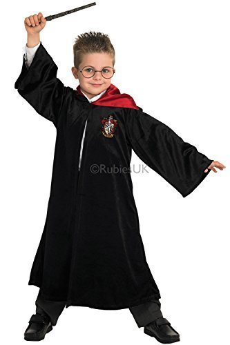 (Jungen Harry Potter Rubies Kinder Deluxe Gryffindor Schule Robe Maskenkostüm)