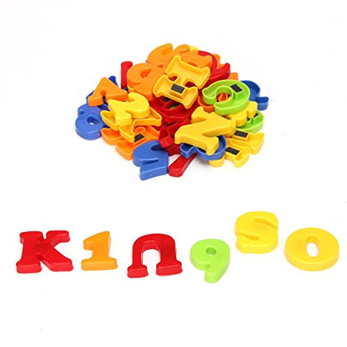 king do way 78 pcs lettres chiffres alphabet aimant frigo magnet sticker jouet enfant le. Black Bedroom Furniture Sets. Home Design Ideas