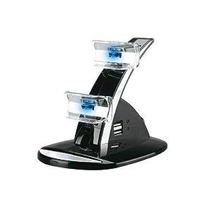Lioncast PS3 Doppel-Ladestation für 2 Controller (Playstation 3) mit LED-Beleuchtung, schwarz