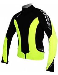 Polaris Bikewear - Fang Long Sleeve Jersey Junior, color amarillo,negro, talla 7-8 Y