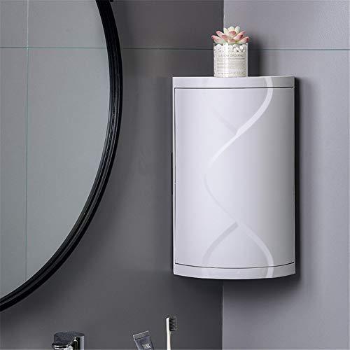 WJHFF Drehbares Badregal Kunststoff Dreieck Lagerregal Wandabsorbierende kosmetische Aufbewahrungsbox Kein Bohren Badzubehör