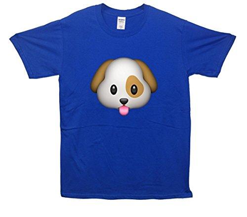 Puppy Emoji T-Shirt Blau