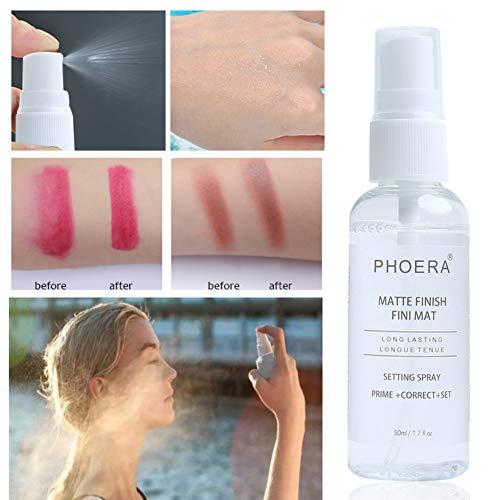 Etophigh Fixation fixe de maquillage Fixation de maquillage Bouteille matte Huile hydratante contrôle longue durée de maquillage Maquillage Fix Spray