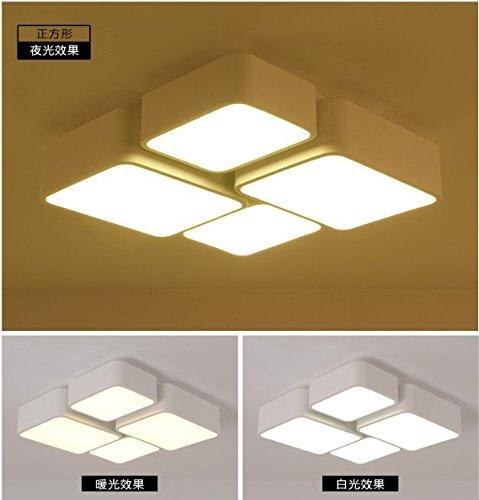 GQLB Lampada da soffitto moderno minimalista camera da letto studio american iron LED luce a soffitto 520*520MM, luce calda