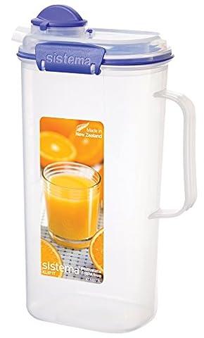 Sistema KLIP IT Juice Jug, 2 L - Clear with Blue Clips