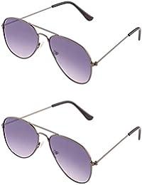 ADDON EYEWEAR Brand UV Protected Unisex Flat Aviator Sunglasses For Men Women Boys And Girls Non Polarized Goggle...