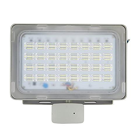 Viugreum 100W LED Motion Sensor Floodlight, Thinner Lighter Outdoor Lighting, Waterproof IP65, 12000LM, Daylight White(6000-6500K), Super Bright PIR Security Lights, for Garden, Yard, Warehouse, Square