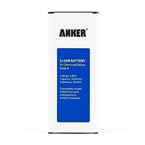 Batterie Li-ion pour Galaxy Note 4 Anker - Batterie de remplacement 3220 mAh Samsung Galaxy Note 4 N910, N910F, N910H, N910U 4G LTE [Compatible NFC/Google Wallet]