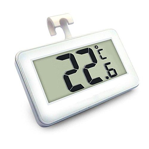 Expower Digitale Termometro da Frigo Mini Impermeabile Congelatore Termometro con Gancio LCD...
