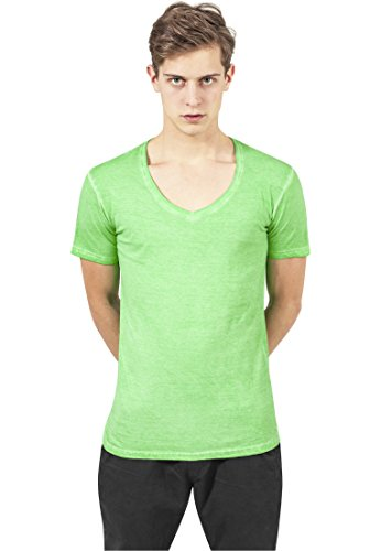 Spray Dye V-Neck Tee mint S