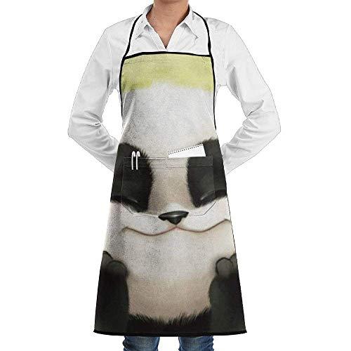 tgyew Lovely Panda Professional Printing Bib Kitchen Apron,Chef Aprons