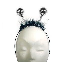 Folat Haarreif - Tiara mit Discokugel, Silber