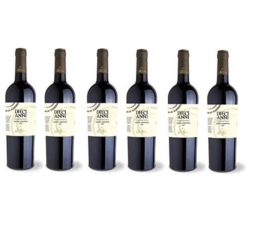Vino Rosso Salice Salentino 10 ANNI | 2016 | Feudi Di Guagnano - 6 Bottiglie
