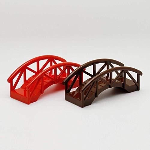 FeiyUan Holz Garten Brücke Kuchen Top Hut Basteln DIY Modell Projekt - Farbe Zufällige (Brücke Kuchen)