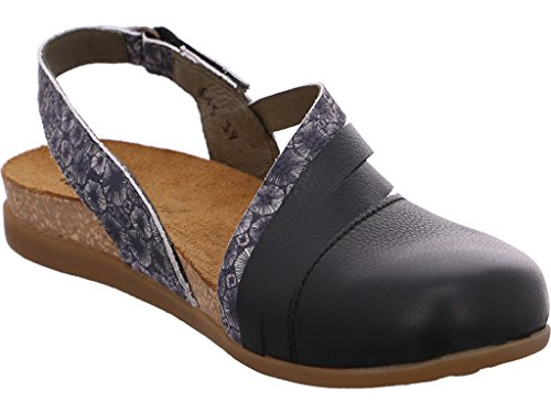 El Naturalista Nf45 Soft Grain Zumaia, Closed-Toe Femme Black Coral