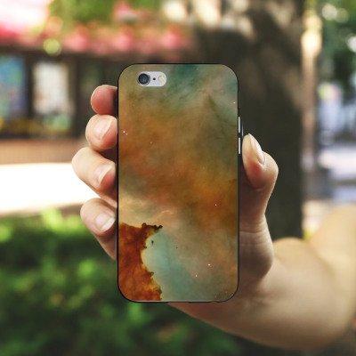 Apple iPhone X Silikon Hülle Case Schutzhülle Galaxy Carina Nebel Muster Silikon Case schwarz / weiß