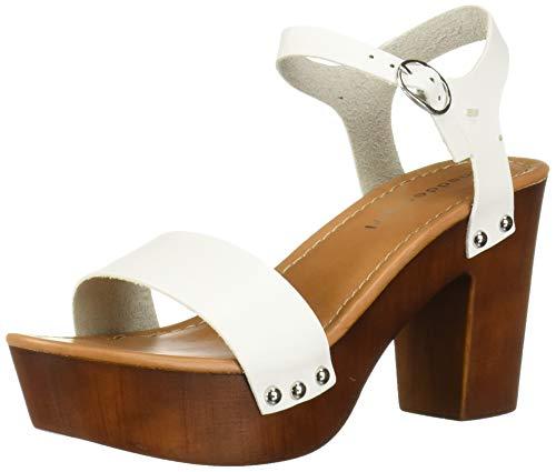 Aus Madden Girl (Madden Girl LIFF01J1, Damen Sandalen braun, Weiß - White Paris - Größe: 37.5 EU)