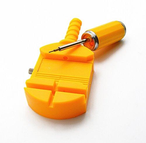 Lumanuby 1 Stück Uhr Reparaturwerkzeug Kunststoff Material Watch Band Remover 11.5*4*1.8cm Gelb Farbe (Lineup Pins)