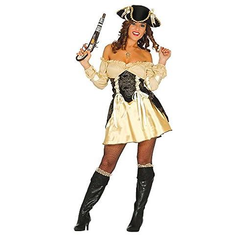 Déguisement de pirate femme doré Costume sexy piratesse M 40/42