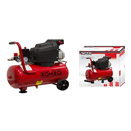 KOMBO - Compressore Elettrico 230V-50Hz da 1.5 HP Serbatoio 24L 2800 RPM. pressione massima: 8 BAR, 600x260x600 mm
