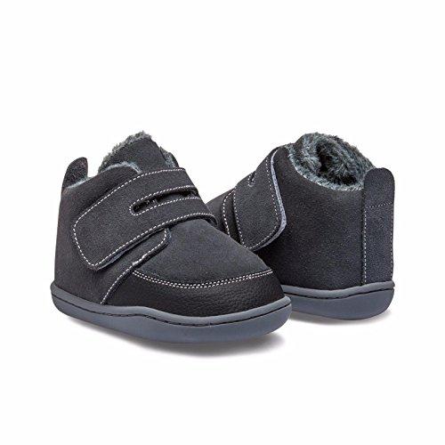 Little Blue Lamb , {Chaussures premiers pas pour bébé (garçon) gris schwarz 18-24 mois schwarz