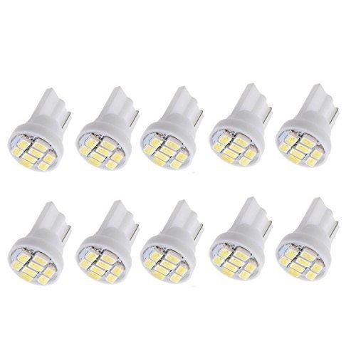Neuftech 10x 8* 1206SMD T10W5W Wedge Lampadina per auto-Parcheggio lampadina illuminazione interno lampadina per lettura Luce laterale lampada DC 12V Bianco