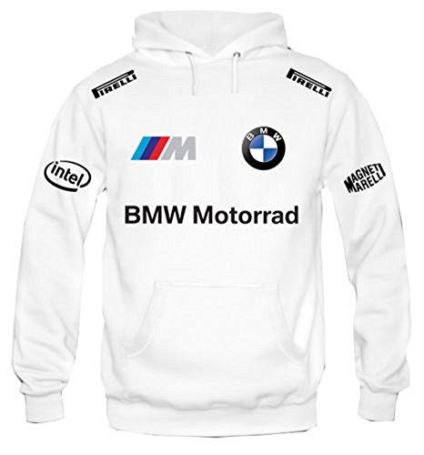 Felpa-Con-Cappuccio-Bmw-Motorrad-Rally-Racing-gta-Personalizzata-Bianca