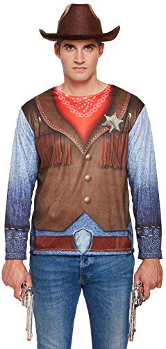 Fancy Me Herren Cowboy Sheriff Dependant Wild West Limousine Beruf Jura Maker Hirsch Do Night Party Kostüm Outfit Top