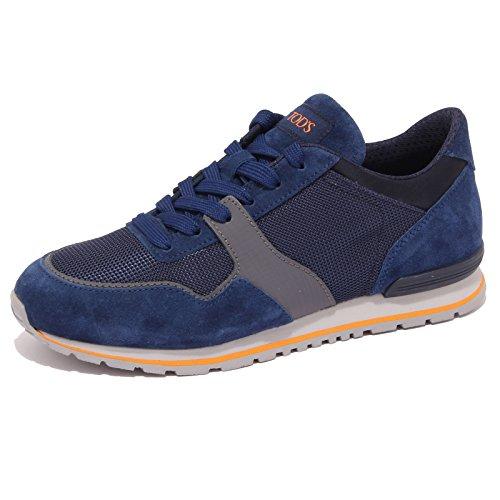 6493q-sneaker-uomo-tods-spoiler-allacciato-blu-grigio-shoe-men-9