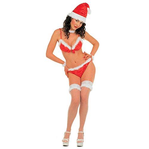 1 Kostüm MISS SANTA 100 % Polyester Größe:38 / 40 M Kostüme Damen Weihnachten