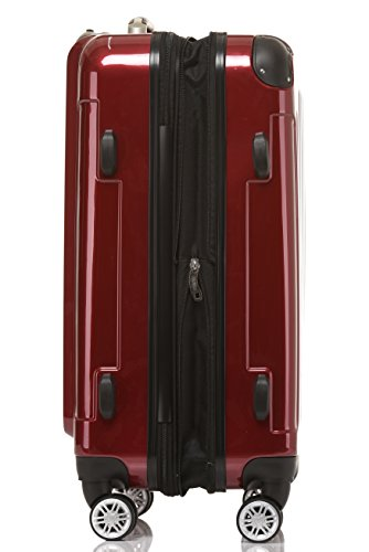 ColorBeibye–Set di 3valigie rigide marrone Set Rot