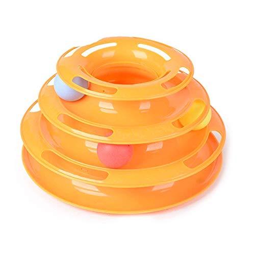 CARACTERÍSTICA :  3 bolas SPIN AND ROLL: Este juguete de gato adictivo está diseñado con 3 niveles de pistas y 3 bolas de colores brillantes . Pelotas con mantener a los gatos OCUPADO: La torre del juguete de la pista pistas gato estimula su gato y ...