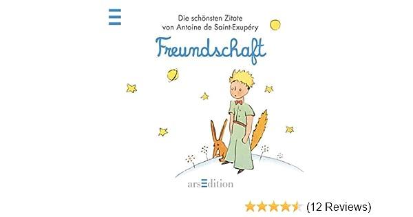 Freundschaft Der Kleine Prinz Schonsten Zitate Von Antoine De Saint Exupery Kleiner Prinz Minibucher Amazon De Antoine De Saint Exupery Ba C Bccher