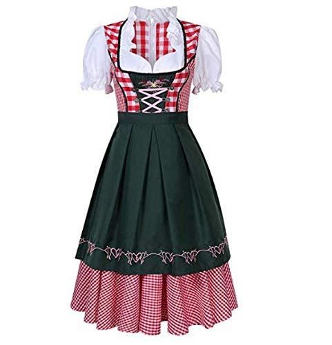 KEEPING Frauen Oktoberfest Kostüm Deutsches Bier Festival Traditionelles Bayerisches Kleid für - Deutsches Bier Frau Kostüm