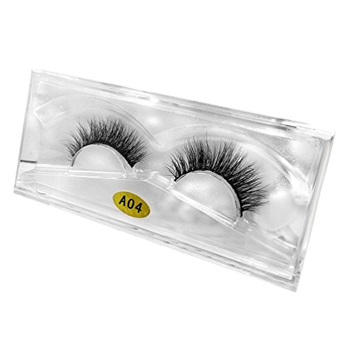 Damen Wimpern, SHOBDW 3D Natürliche Multi Layer Dickes Kreuz Auge Wimpern Falsche Wimpern (A04)